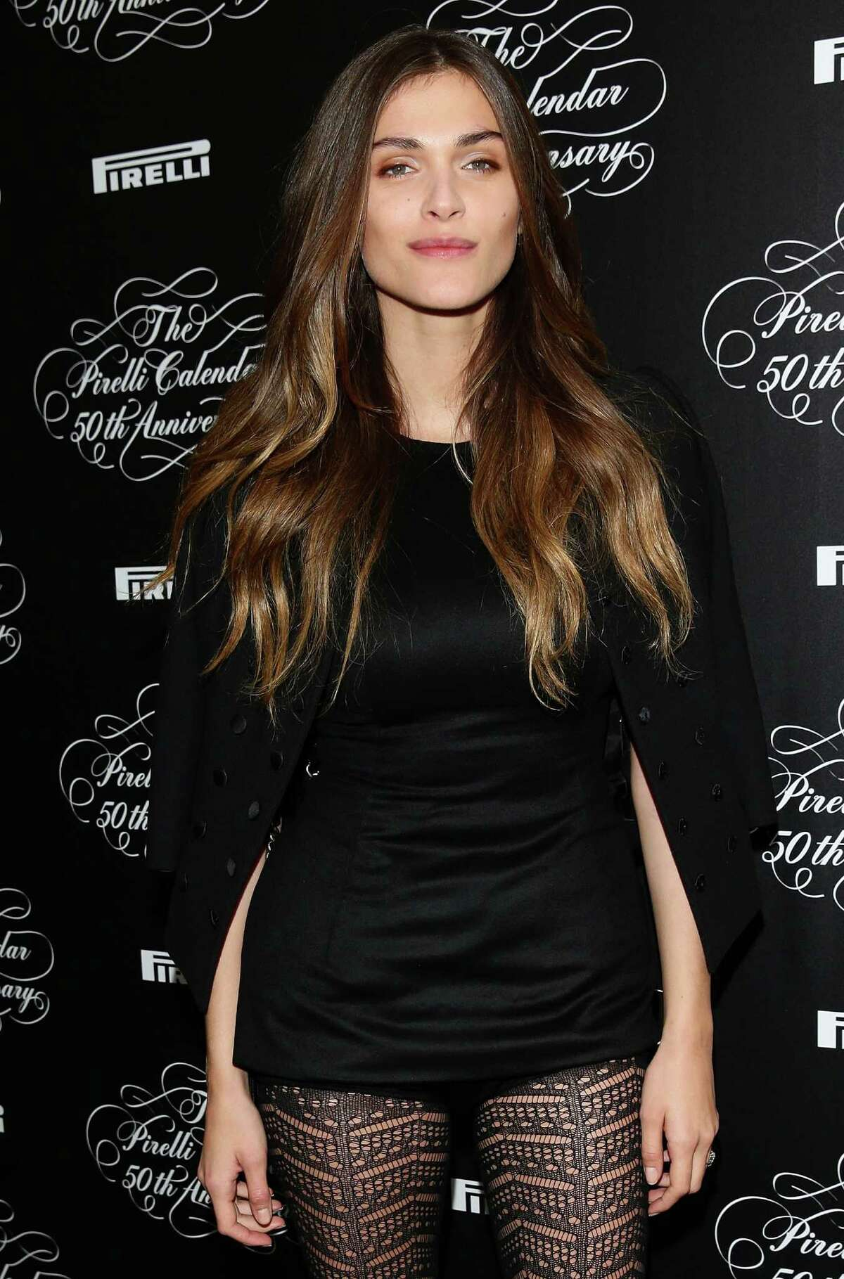 Model Elisa Sednaoui attends the Pirelli Calendar 50th Anniversary press conference on November 21, 2013 in Milan, Italy.