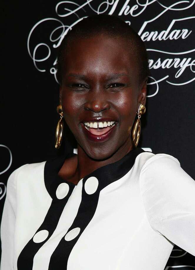 Model Alek Wek attends the Pirelli Calendar 50th Anniversary press conference  on November 21, 2013 in Milan, Italy. Photo: Vittorio Zunino Celotto, Getty Images / 2013 Getty Images