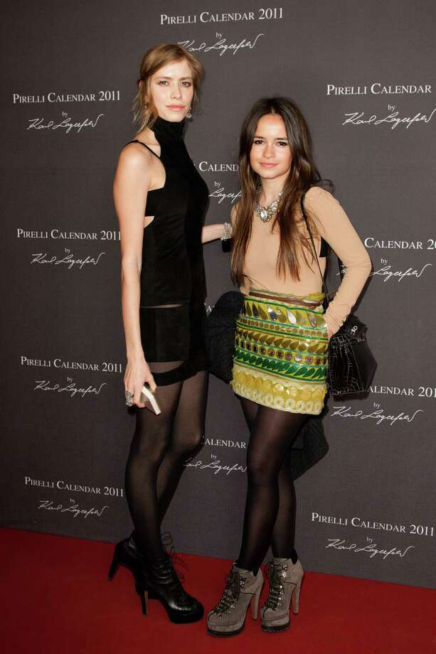 Elena Perminova and Miroslava Duma attend the launch of the 2011 Pirelli Calendar on November 30, 2010 in Moscow, Russia. Photo: Victor Boyko, Getty Images / 2010 Victor Boyko
