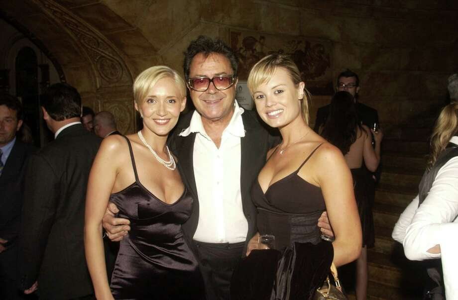 (L-R) BESSIE BARDOT, CHARLES BILLICH and AMY ERBACHER at the exclusive showing and opening night party to celebrate the Australian launch of the 2004 PIRELLI CALENDAR by Nick Night at the State Theatre - Sydney, Australia. Photo: Patrick Riviere, Getty Images / 2003 Getty Images