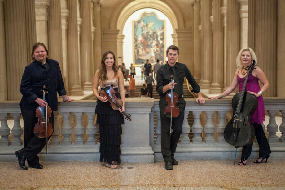 The string quartet ETHEL, Ralph Farris, Tema Watstein, Kip Jones and Dorothy Lawson, will perform at the Silvermine Arts Center Dec. 14. Photo: Contributed Photo, Contributed / New Canaan News Contributed