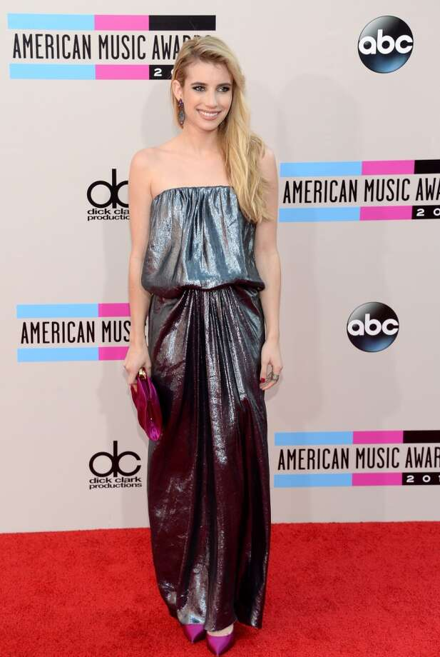 Actress Emma Roberts attends the 2013 American Music Awards at Nokia Theatre L.A. Live on November 24, 2013 in Los Angeles, California.  (Photo by Jason Merritt/Getty Images) Photo: Jason Merritt, Getty Images