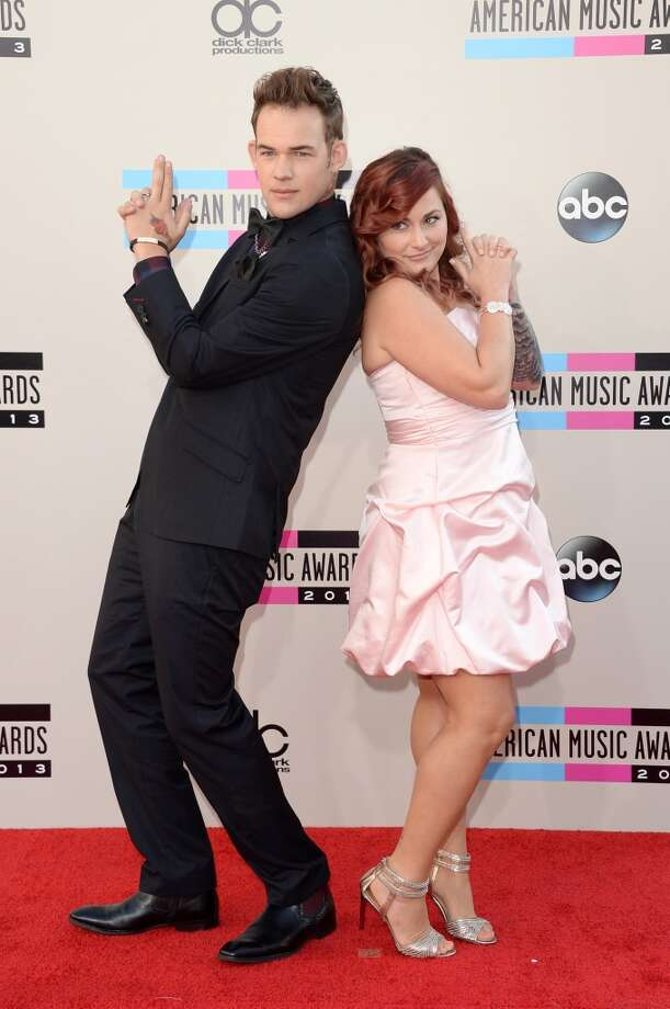 Singer James Durbin and wife Heidi Lowe attend the 2013 American Music Awards at Nokia Theatre L.A. Live on November 24, 2013 in Los Angeles, California.  (Photo by Jason Merritt/Getty Images) Photo: Jason Merritt, Getty Images