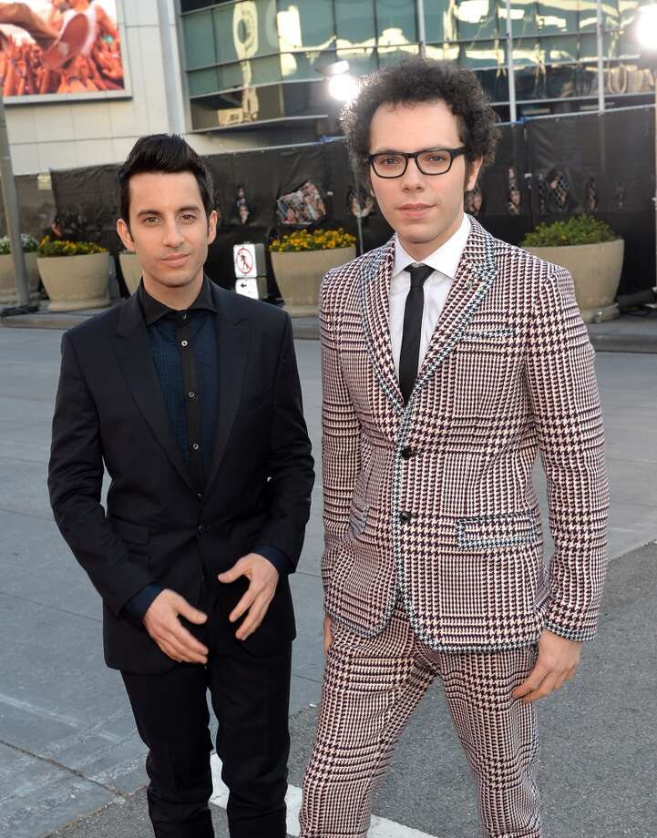Recording artists Ian Axel (L) and Chad Vaccarino of music group A Great Big World attend the 2013 American Music Awards at Nokia Theatre L.A. Live on November 24, 2013 in Los Angeles, California.  (Photo by Michael Buckner/AMA2013/Getty Images for DCP) Photo: Michael Buckner/AMA2013, Getty Images For DCP