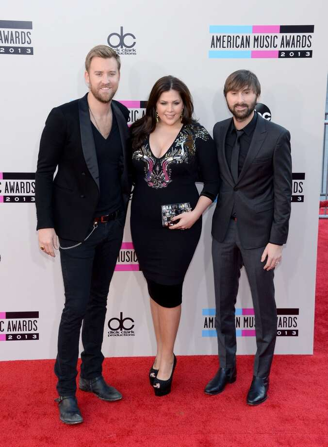 (L-R) Charles Kelley, Hillary Scott and Dave Haywood of Lady Antebellum attend the 2013 American Music Awards at Nokia Theatre L.A. Live on November 24, 2013 in Los Angeles, California.  (Photo by Jason Kempin/Getty Images) Photo: Jason Kempin, Getty Images