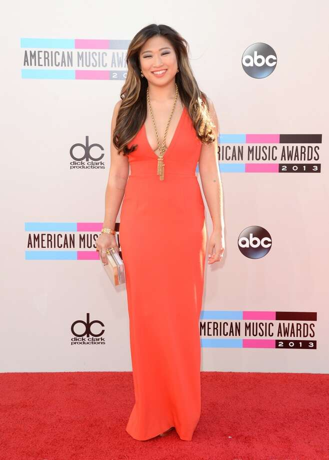 Actress Jenna Ushkowitz attends the 2013 American Music Awards at Nokia Theatre L.A. Live on November 24, 2013 in Los Angeles, California.  (Photo by Jason Merritt/Getty Images) Photo: Jason Merritt, Getty Images