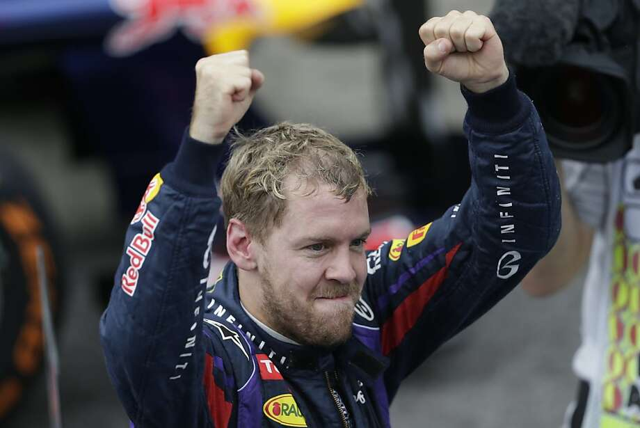 Red Bull driver Sebastian Vettel of Germany capped a record-setting Formula One year by equaling two records. Photo: Felipe Dana, Associated Press