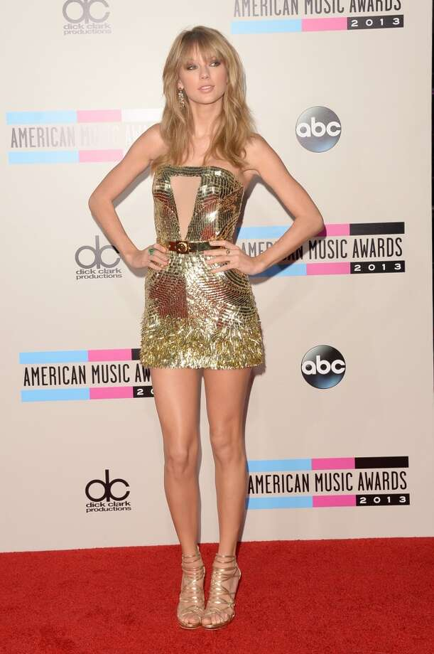 Singer Taylor Swift attends the 2013 American Music Awards at Nokia Theatre L.A. Live on November 24, 2013 in Los Angeles, California.  (Photo by Jason Merritt/Getty Images) Photo: Jason Merritt, Getty Images