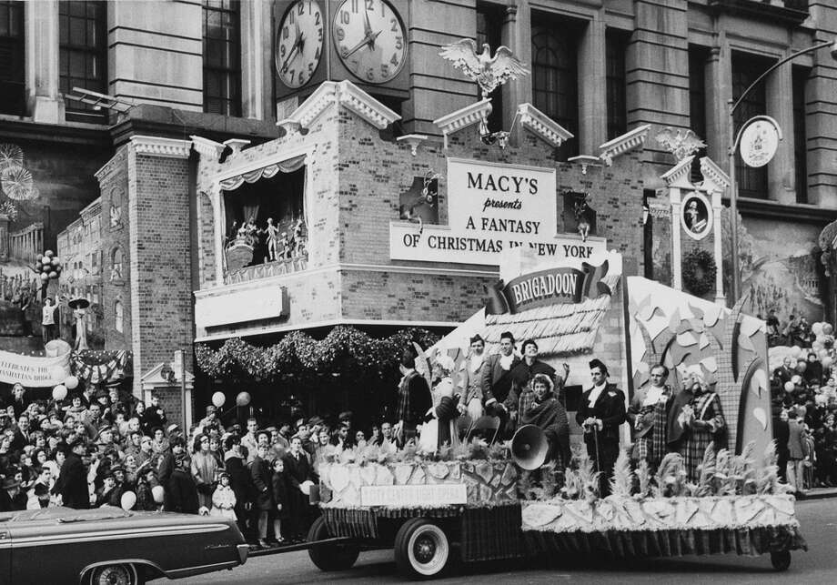 "A parade float for the City Center Light Opera production of the musical ""Brigadoon"" is seen during the Macy's Thanksgiving Day Parade in New York City on Nov. 26, 1961. Photo: Archive Photos, Getty Images / 2011 Getty Images"