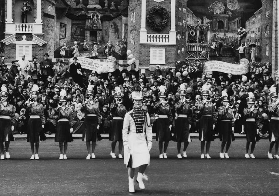 A female marching band is seen during the Macy's Thanksgiving Day Parade in New York City on Nov. 26, 1961. Photo: Archive Photos, Getty Images / 2011 Getty Images