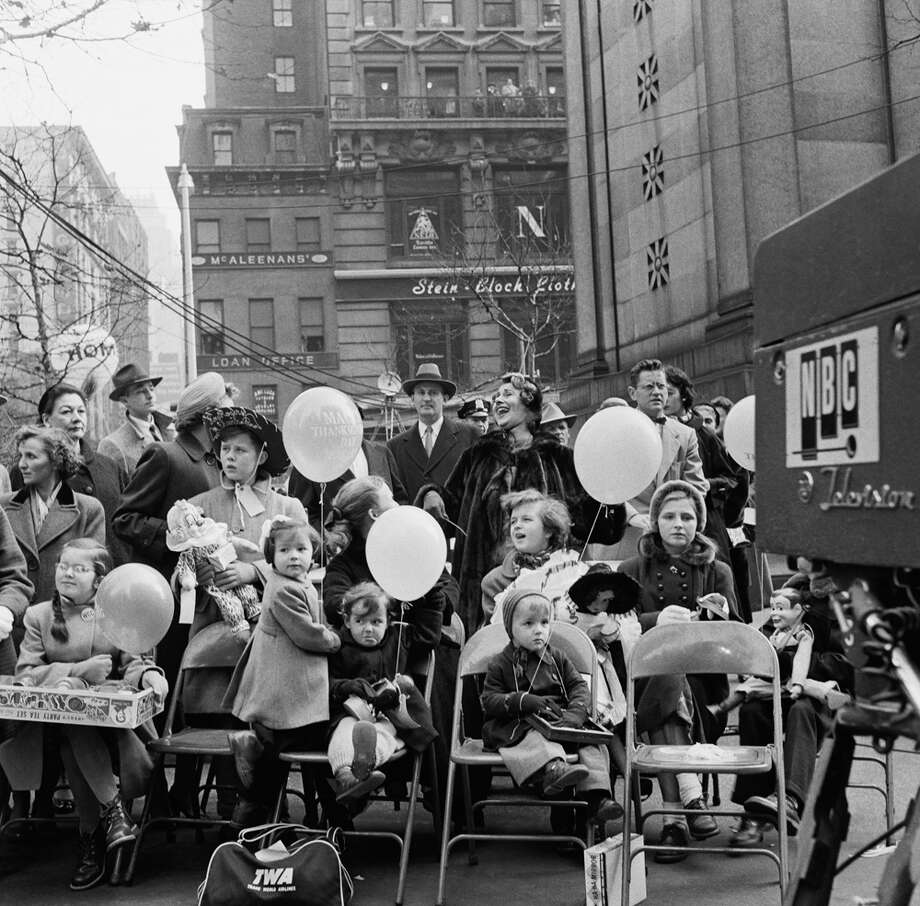 A group of people watches the 1954 Macy's Thanksgiving Day Parade. Photo: NBC, Getty Images / © NBC Universal, Inc.