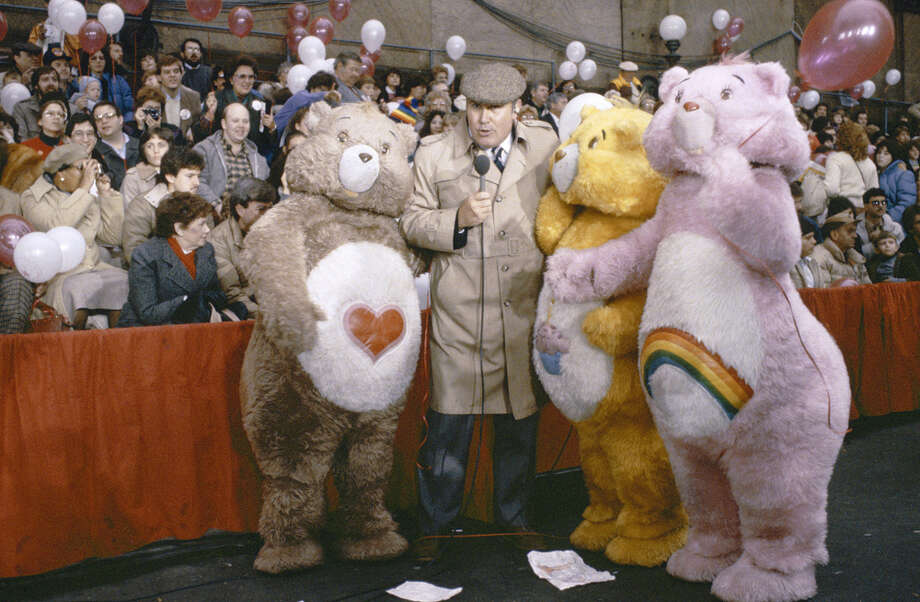 Host Willard Scott is seen with the Care Bears during the 1983 Macy's Thanksgiving Day Parade. Photo: NBC, Getty Images / © NBC Universal, Inc.