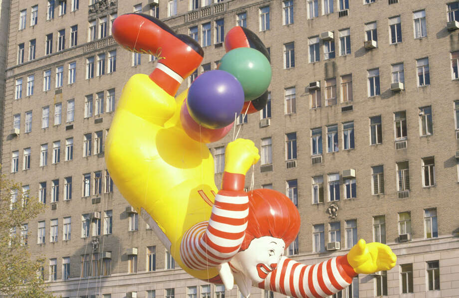 The Ronald McDonald balloon, which joined the parade in 1987, is seen during 