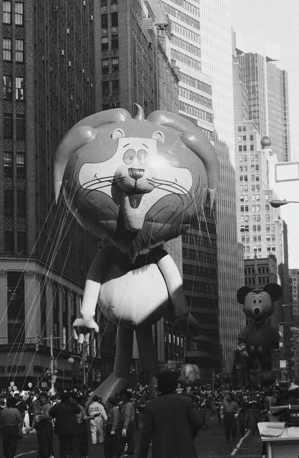 The Linus the Lionhearted balloon passes the crowd during the 1982 Macy's Thanksgiving Day Parade. Linus made his parade debut in 1964. Photo: NBC, Getty Images / © NBC Universal, Inc.