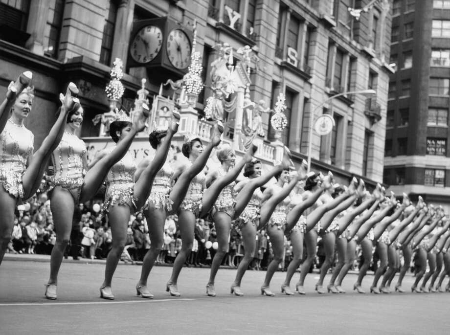 The Rockettes perform during the 1964 Macy's Thanksgiving Day Parade. Photo: NBC, Getty Images / © NBC Universal, Inc.