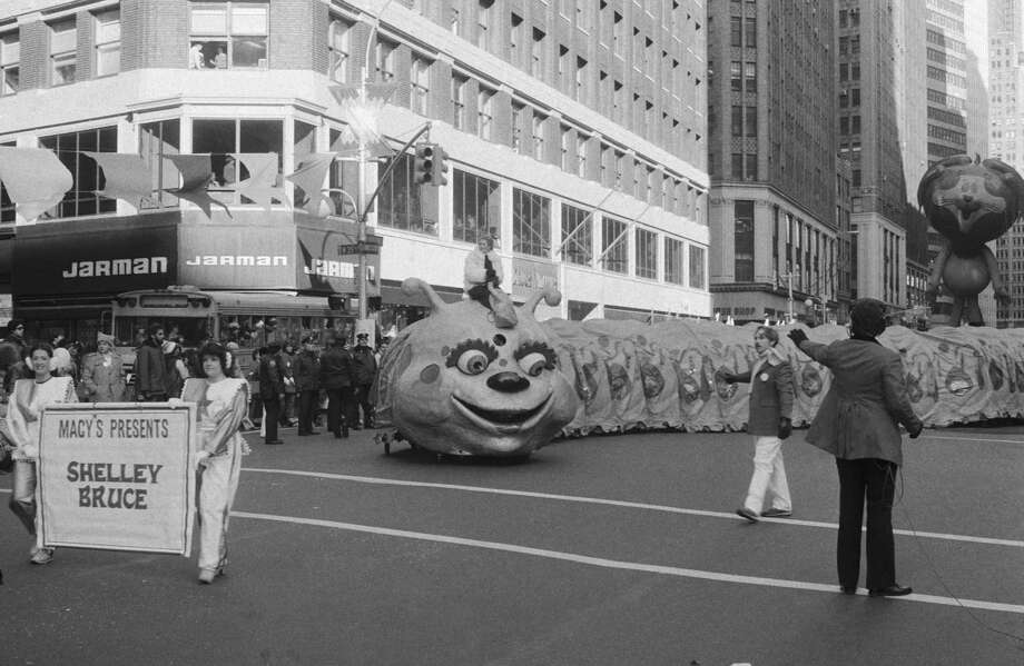 A millipede with Shelley Bruce passes by the crowd during the 1982 Macy's Thanksgiving Day Parade. Photo: NBC, Getty Images / ? NBC Universal, Inc.