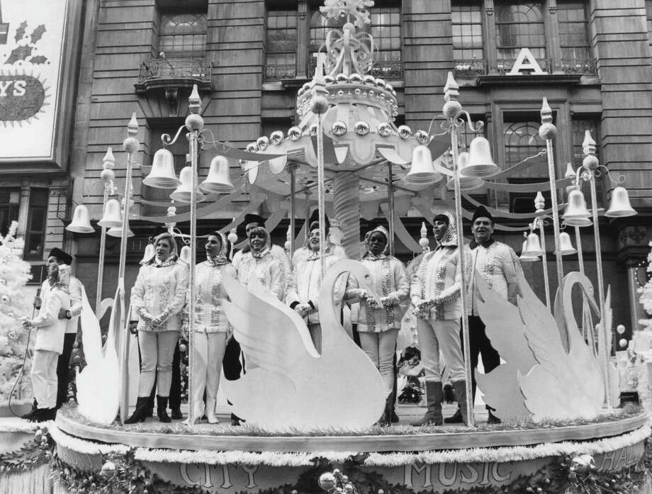 The Radio City Music Hall float is seen during the 1966 Macy's Thanksgiving Day Parade. Photo: NBC, Getty Images / © NBC Universal, Inc.