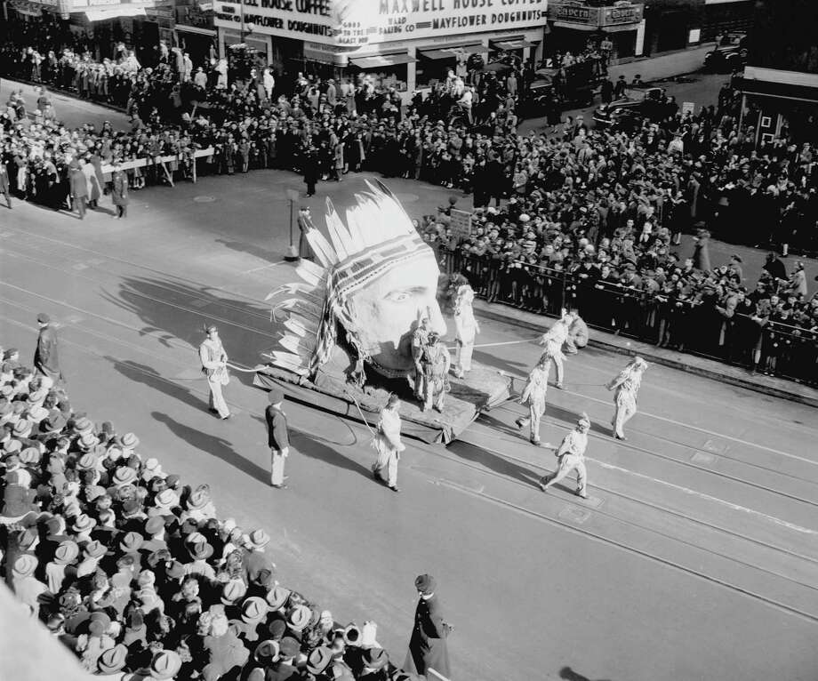 A float is seen during the 1945 Macy's Thanksgiving Day Parade. Photo: NBC, Getty Images / © NBC Universal, Inc.