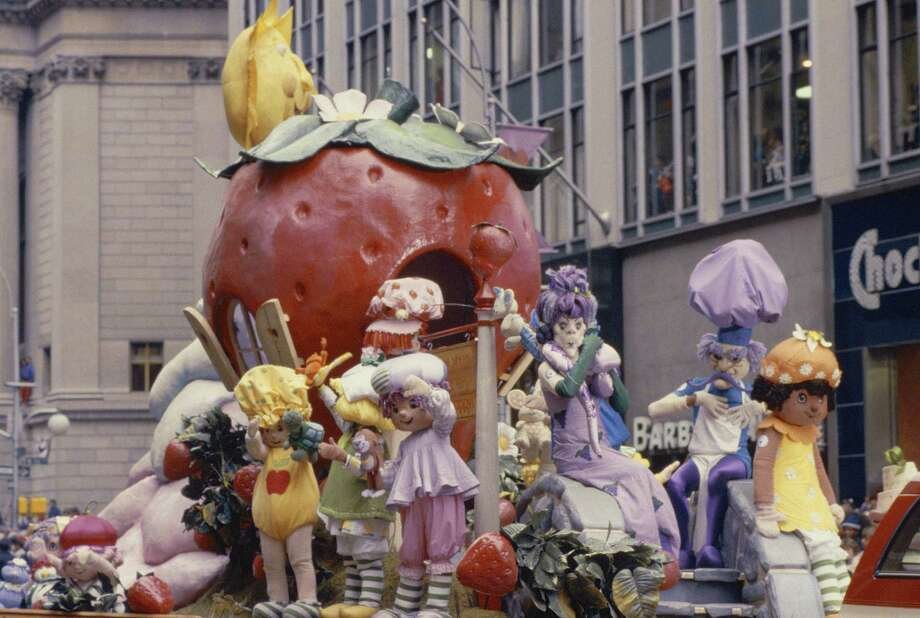 Characters on the Strawberry Shortcake float wave to the crowd during the 1983 Macy's Thanksgiving Day Parade. Photo: NBC, Getty Images / © NBC Universal, Inc.