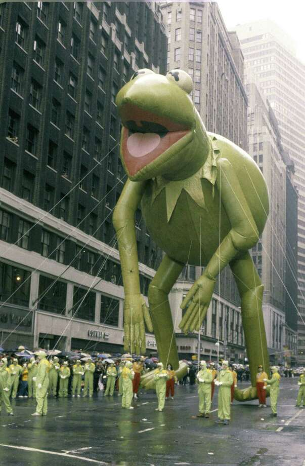 The Kermit the Frog balloon is seen during the 1983 Macy's Thanksgiving Day Parade. Kermit joined the parade in 1977. Photo: NBC, Getty Images / © NBC Universal, Inc.