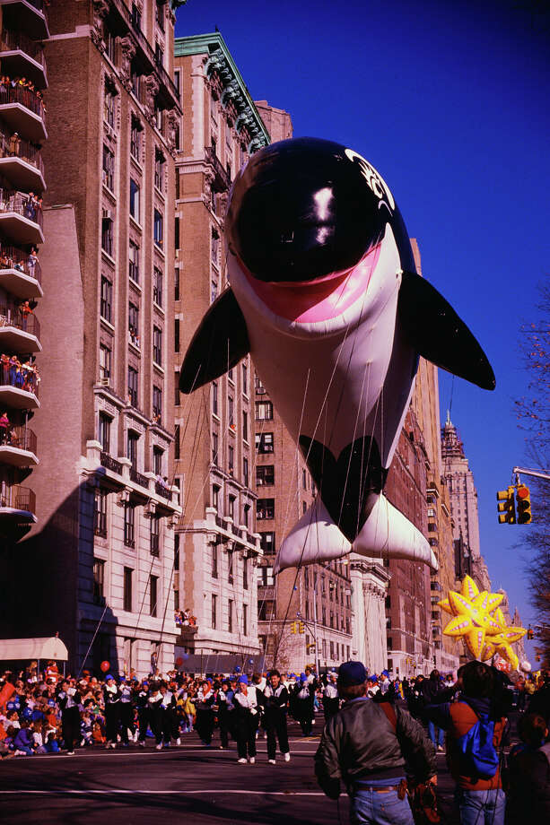 The Baby Shamu balloon, which joined the parade in 1986, is seen during 