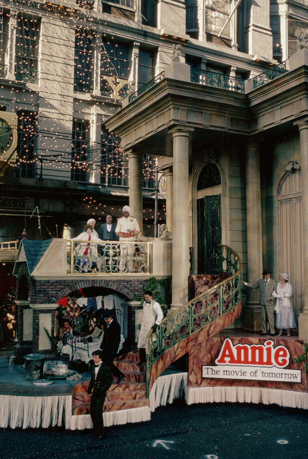 "A float for the upcoming movie ""Annie"" is seen during the 1981 Macy's Thanksgiving Day Parade. Photo: NBC, Getty Images / © NBC Universal, Inc."