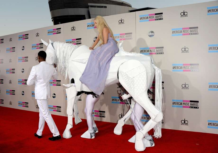 Singer Lady Gaga attends the 2013 American Music Awards at Nokia Theatre L.A. Live on November 24, 2013 in Los Angeles, California.  (Photo by Jason Merritt/Getty Images) Photo: Jason Merritt, Getty Images