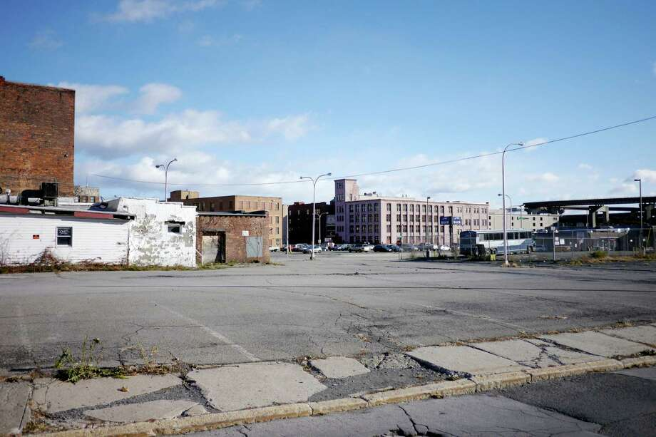 A view east from Green St. towards the bus station on Sunday, Nov. 24, 2013 in Albany, NY.      (Paul Buckowski / Times Union) Photo: Paul Buckowski