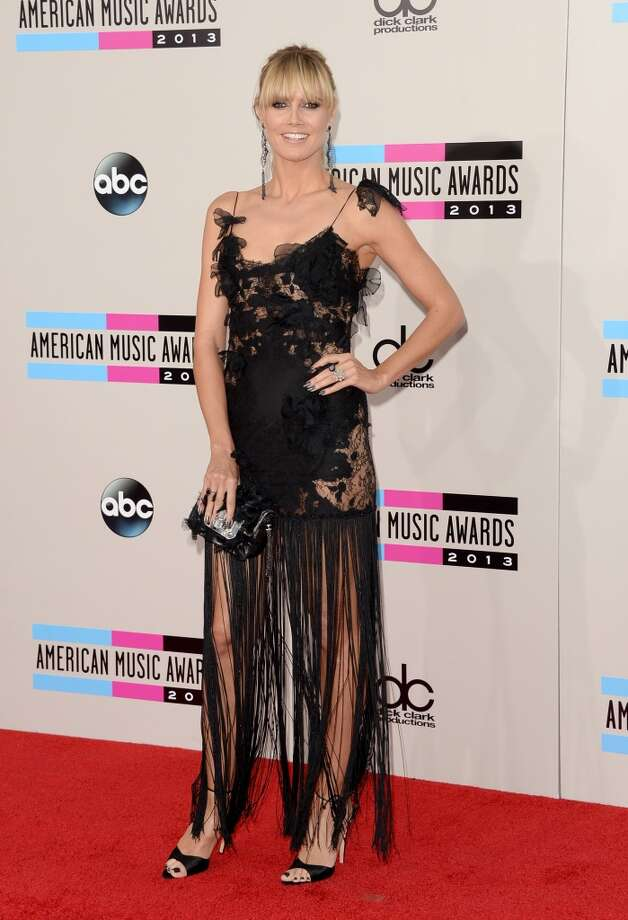 TV personality Heidi Klum attends the 2013 American Music Awards at Nokia Theatre L.A. Live on November 24, 2013 in Los Angeles, California.  (Photo by Jason Merritt/Getty Images) Photo: Jason Merritt, Getty Images