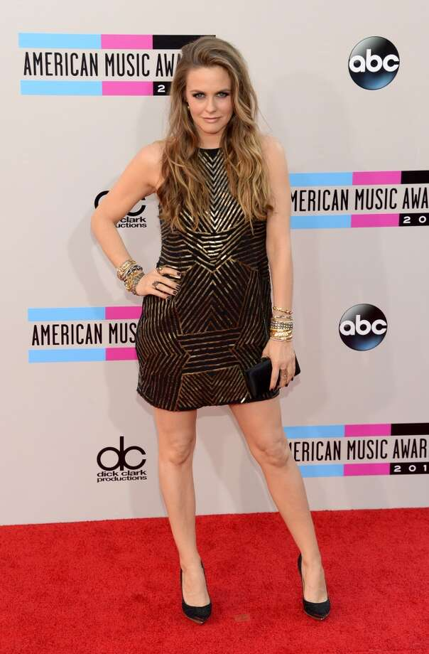 Actress Alicia Silverstone attends the 2013 American Music Awards at Nokia Theatre L.A. Live on November 24, 2013 in Los Angeles, California.  (Photo by Jason Merritt/Getty Images) Photo: Jason Merritt, Getty Images
