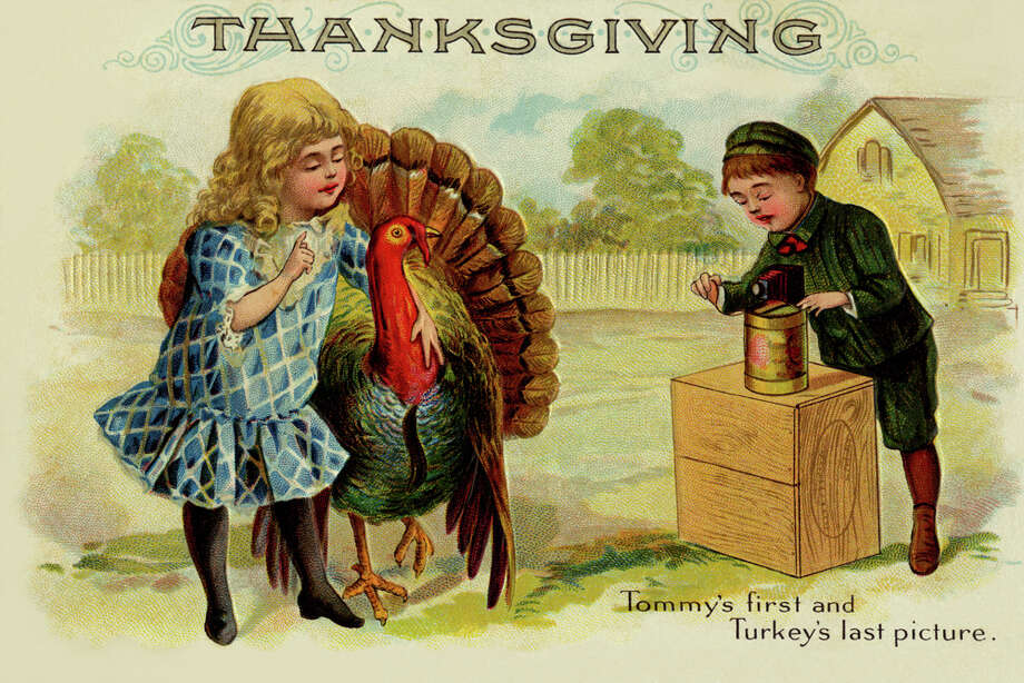 "This card says it all: ""Tommy's first and Turkey's last picture."" (circa 1900) Photo: Buyenlarge, Getty Images / Archive Photos"
