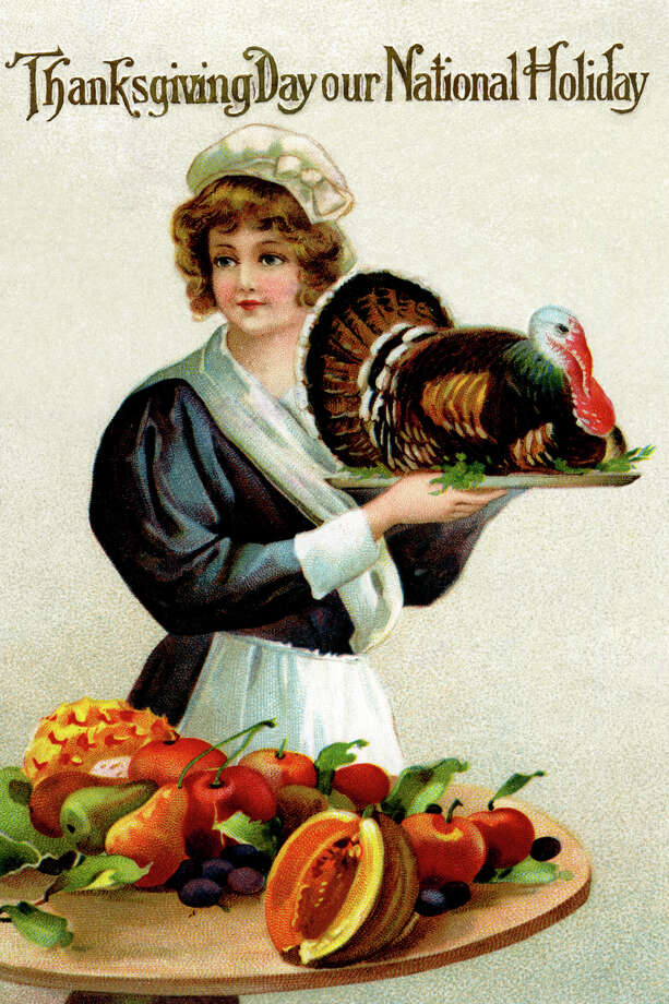 """""""One turkey, served extra-rare."""" Also, what happened to the Fourth of July? (circa 1900) Photo: Buyenlarge, Getty Images / Archive Photos"""