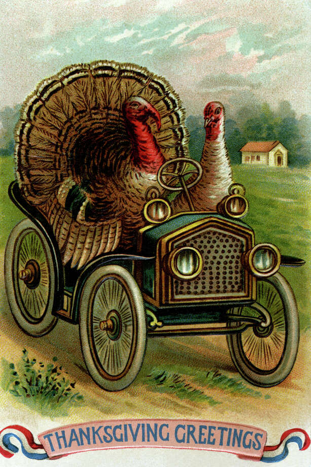 These turkeys have the right idea: steal the family car and drive to safety. (circa 1900) Photo: Buyenlarge, Getty Images / Archive Photos