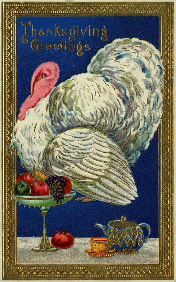 This turkey thought he was invited TO dinner, not FOR dinner. (circa 1910) Photo: Transcendental Graphics, Getty Images / 2006 Mark Rucker/Transcendental Graphics