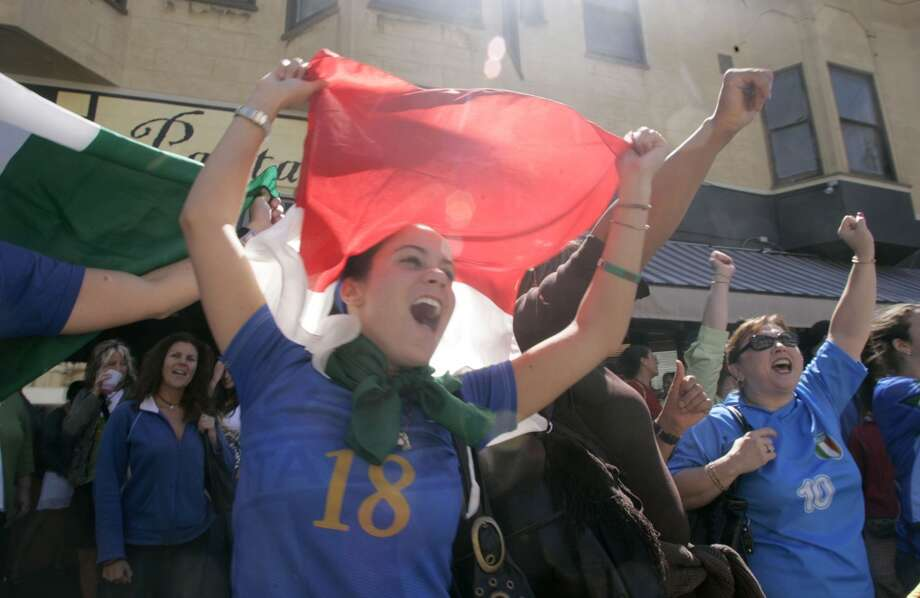 Watch Italy's World Cup soccer games at Panta Rei. (Pictured: Fans celebrate Italy's World Cup victory in 2006.) Photo: Liz Mangelsdorf, The Chronicle