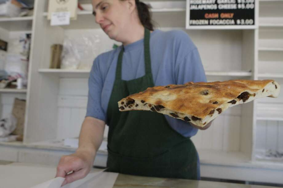 Think the best bread in SF just might be Liguria Bakery's focaccia (which the Soracco family has been churning out for more than 100 years). Photo: Audrey Whitmeyer-Weathers, The Chronicle