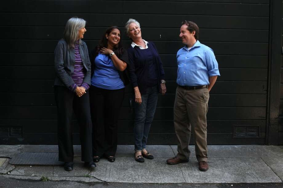 Have an opinion, probably a strong one, about the Telegraph Hill Dwellers neighborhood association. (Pictured, from left, are organization members Judy Irving, Vedica Puri, Lynn Sanchez and Jon Golinger in September) Photo: Pete Kiehart, The Chronicle