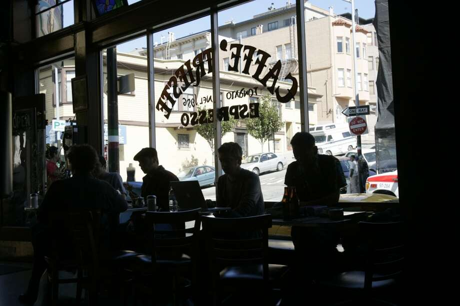 Get your coffee at the spot where Francis Ford Coppola wrote the script for The Godfather and many Beat poets also penned their works (Caffe Trieste). Photo: Penni Gladstone, The Chronicle