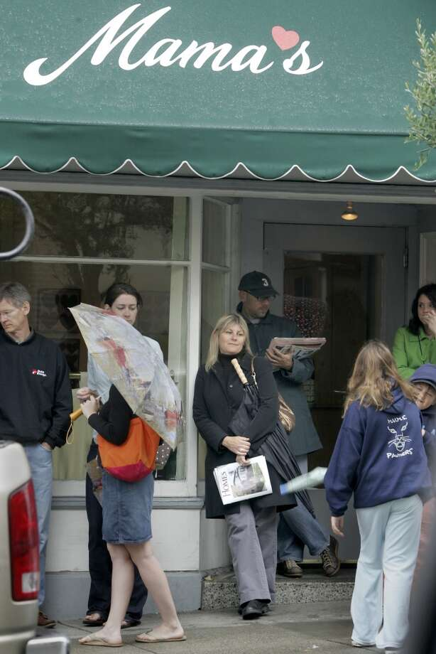 Don't always have the stomach for the Mama's line. Photo: Brant Ward, The Chronicle