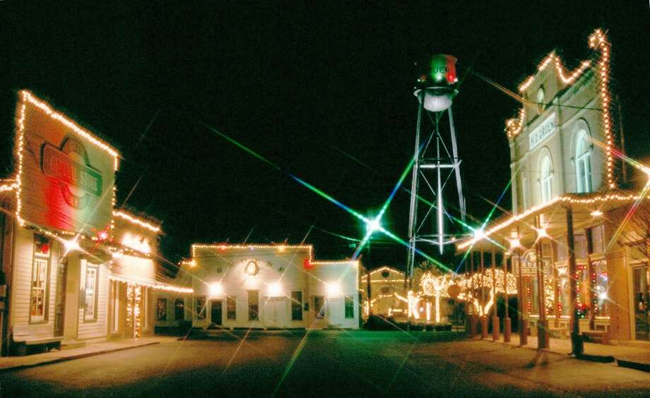 Christmas lights shine in Gruene. Photo: Courtesy Photo, Gruene Historic District