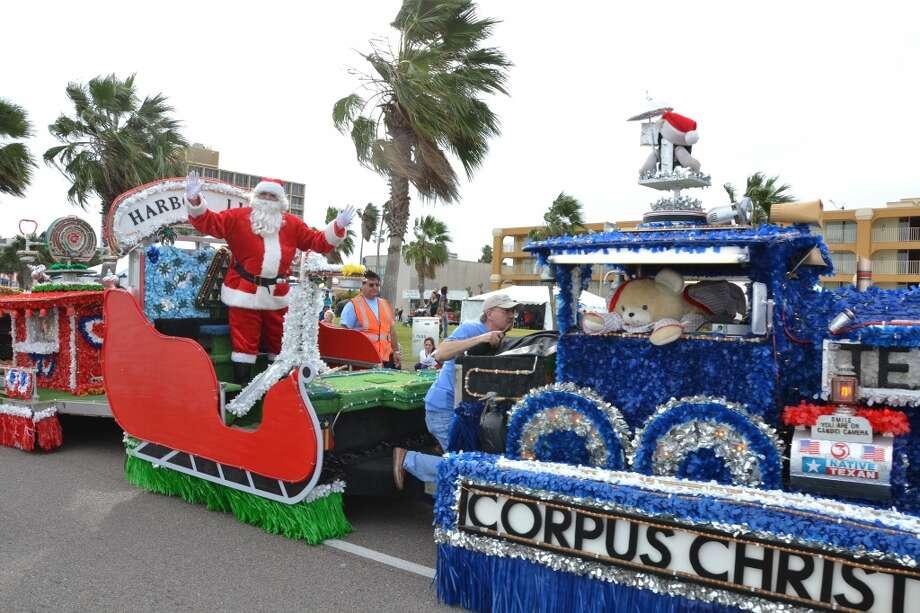 Santa arrives on a float in the Harbor Lights Festival in Corpus Christi Photo: DLG Photography, Corpus Christi CVB