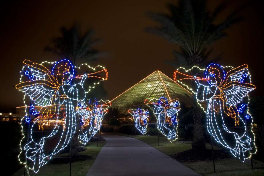 Angels light the way to the Moody Gardens, where the Festival of Lights marks the holiday season. Photo: Courtesy Photo, Moody Gardens