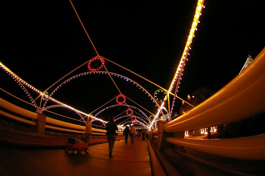 The lights are magical at the Moody Gardens light trail. Photo: Courtesy Photo, Moody Gardens