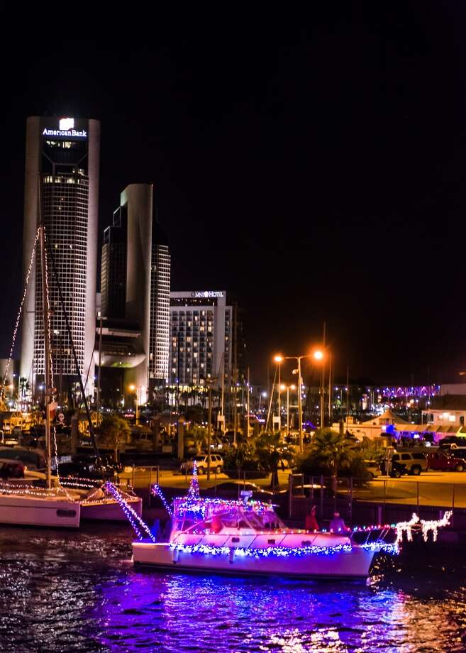 The Harbor Lights Festival in Corpus Christi includes an illuminated Boat Parade. Photo: Courtesy Photo, DLG Photography