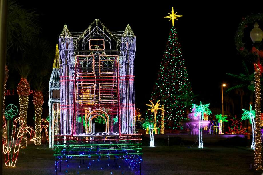 The Hidalgo Festival of Lights may be visible in outer space as the Rio Grande Valley town states a three-mile trail of three million lights. Photo: Courtesy Photo, Hidalgo FOL