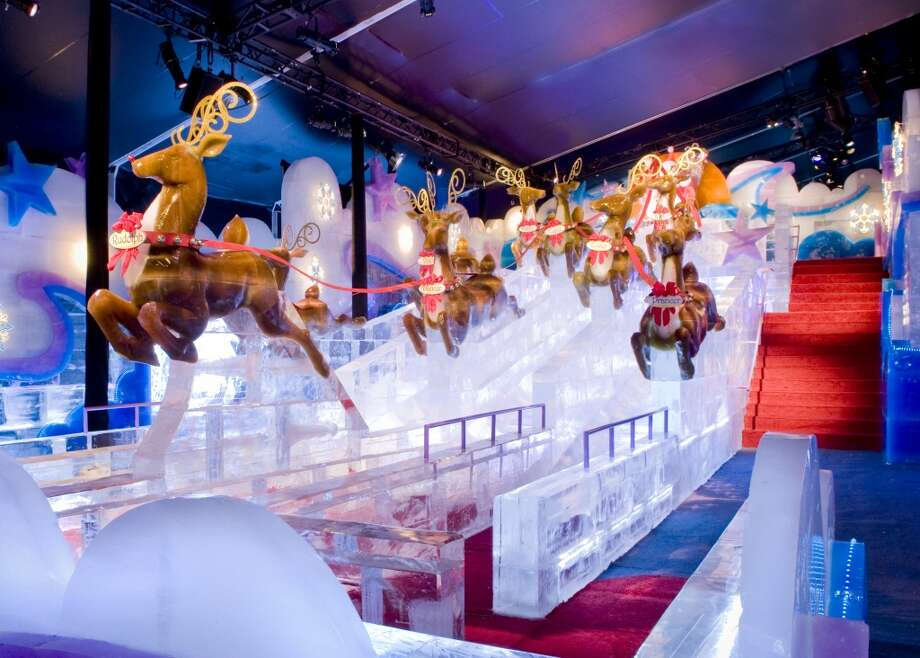 "Fanciful ice slides are part of the fun at the Gaylord Texan's annual ""ICE!"" show. Photo: Courtesy Photo, Gaylord Texan"