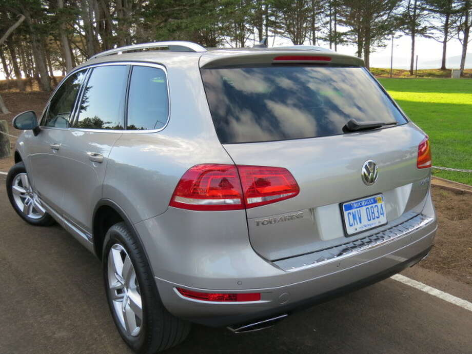 The Touareg Hybrid has that distinct feel of Germanic luxury – subdued leather seats, all the high-tech options you're likely to want, such as rear-view camera, rain-sensing wipers, great sound system, full panoramic sunroof, 12-way power driver's seat with seat memory, and on and on until it fills up the window sticker. (Speaking of window stickers, you can opt for a much less expensive Touareg by choosing the base V6, 280 horsepower version, for about $44,000.)