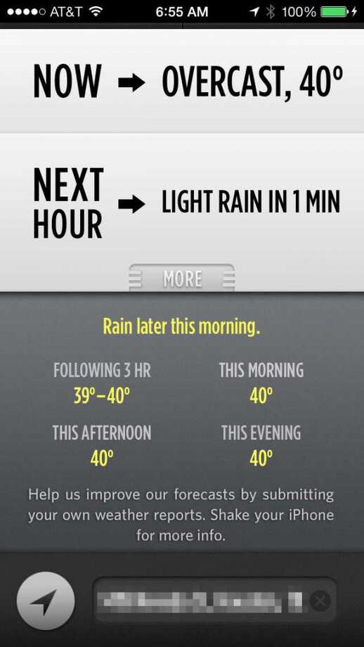 There's a concise, simple forecast for the rest of the day.