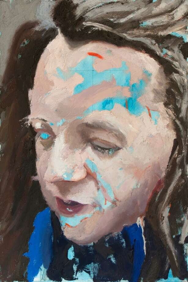 """Blue KEB,"" by Geoffrey Stein is among the portraits on display at the University of Connecticut Stamford campus through the end of November 2013."