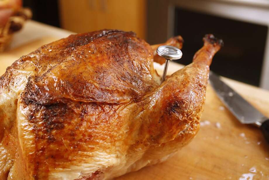 Thermometer in a Bestway air dried turkey. Photo: Craig Lee, Special To The Chronicle